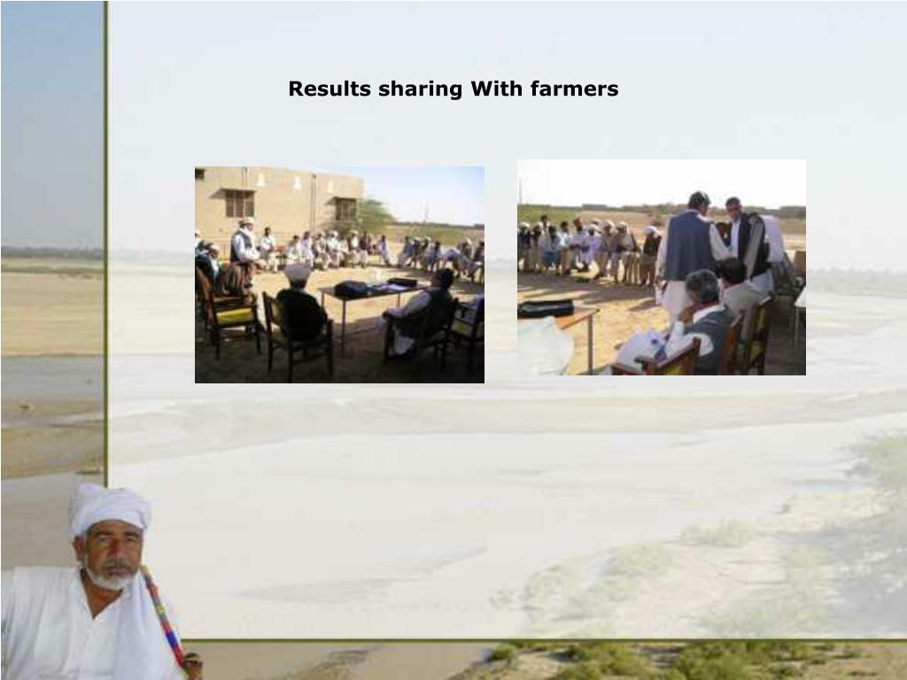 Results sharing With farmers
