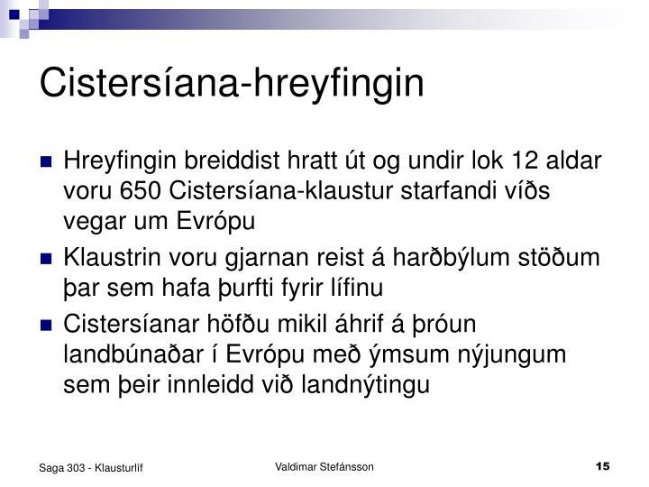 Cistersíana-hreyfingin
