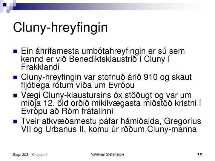 Cluny-hreyfingin