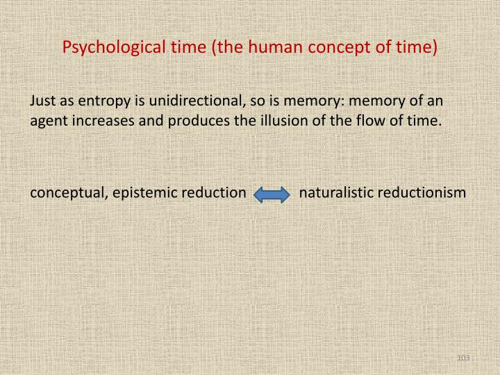 Psychological time (the human concept of time)