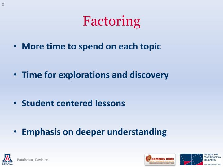 More time to spend on each topic