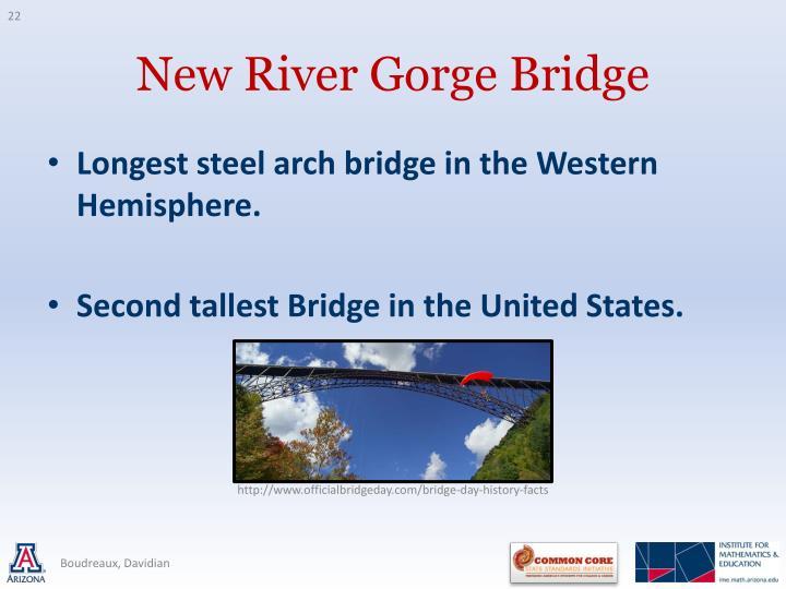 Longest steel arch bridge in the Western Hemisphere.