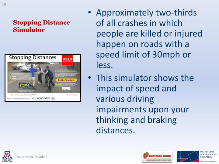 Stopping Distance Simulator