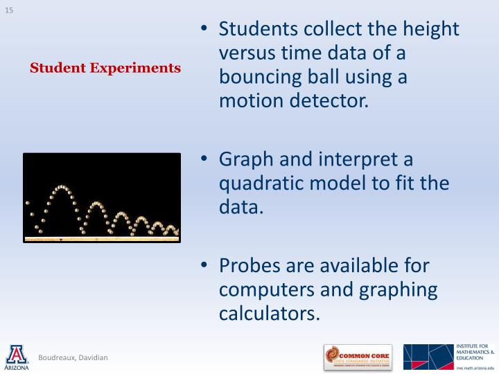 Student Experiments