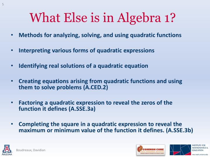 Methods for analyzing, solving, and using quadratic functions