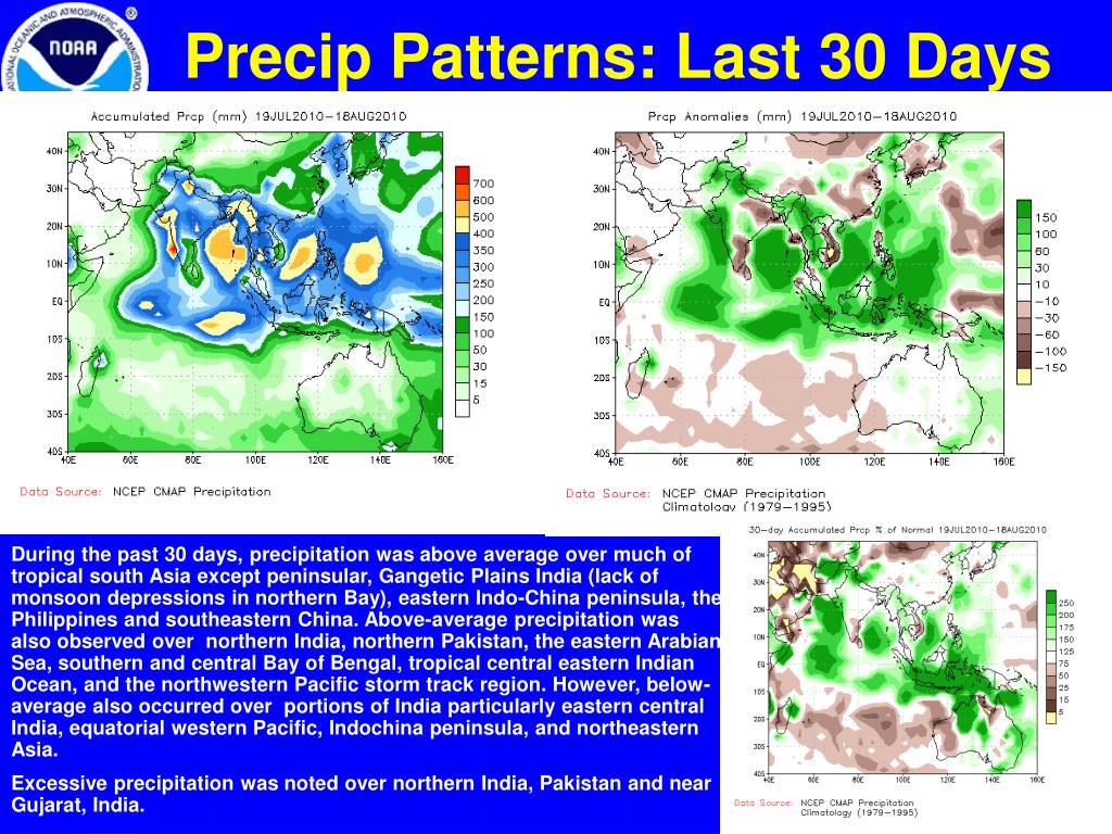 Precip Patterns: Last 30 Days