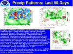 precip patterns last 90 days