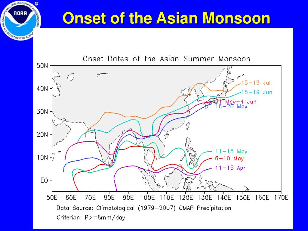 Onset of the Asian Monsoon
