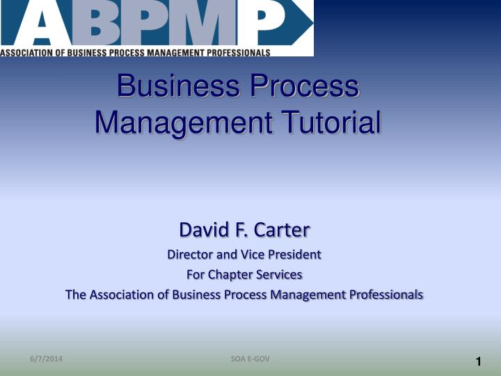 business process management tutorial n.
