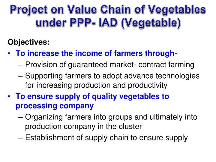 Project on Value Chain of Vegetables
