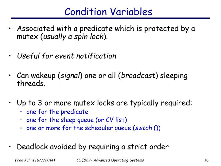Condition Variables