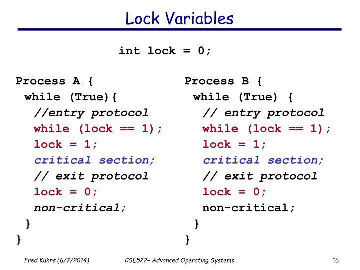 Lock Variables