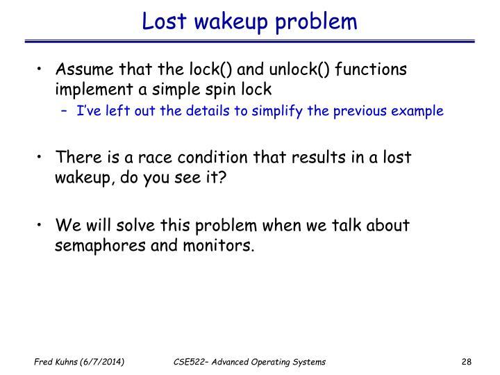 Lost wakeup problem