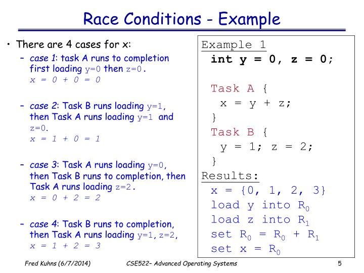 Race Conditions - Example