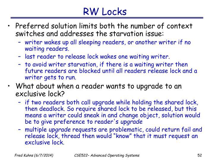 RW Locks