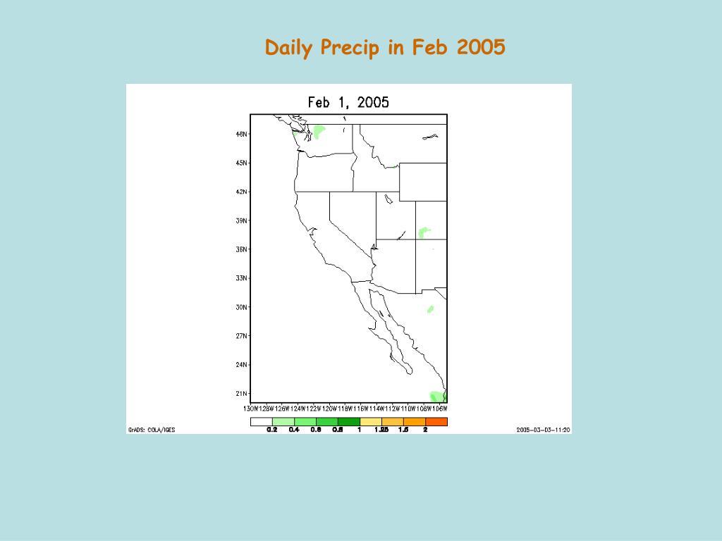 Daily Precip in Feb 2005
