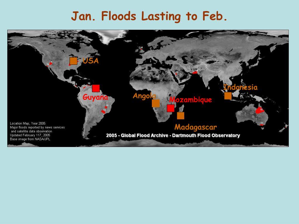 Jan. Floods Lasting to Feb.