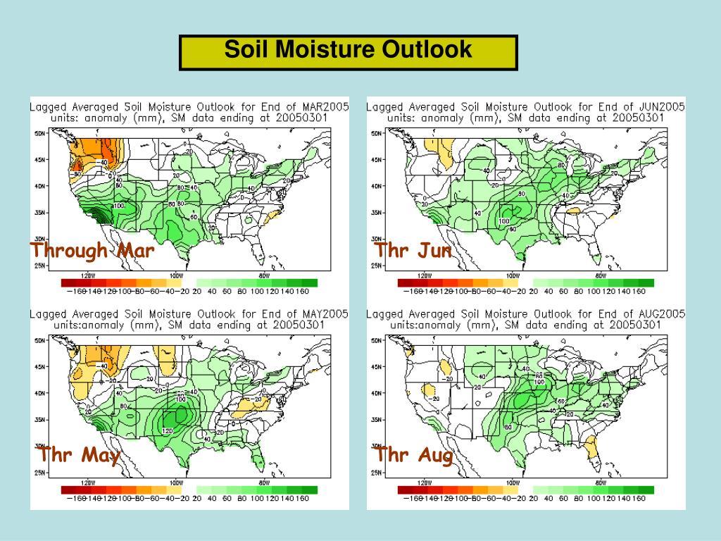 Soil Moisture Outlook