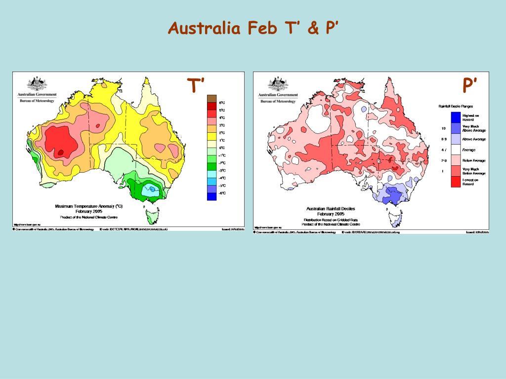 Australia Feb T' & P'