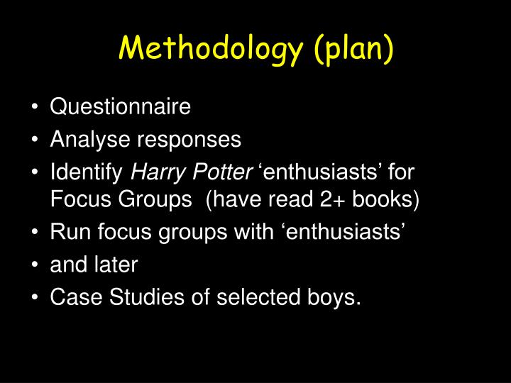 Methodology (plan)