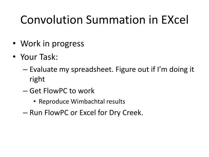 Convolution Summation in