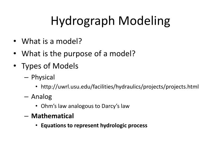 Hydrograph Modeling