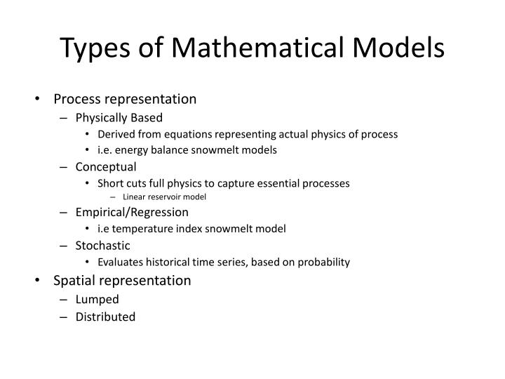 Types of Mathematical Models