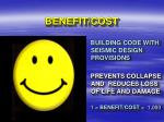 benefit cost