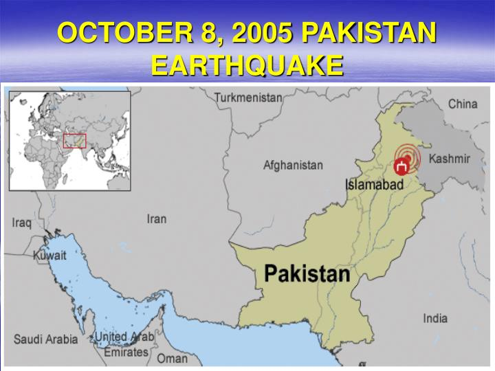 October 8 2005 pakistan earthquake