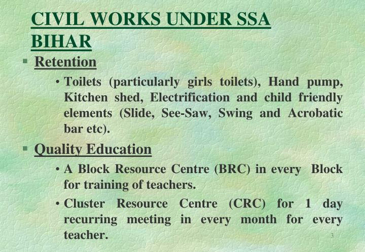 Civil works under ssa bihar3