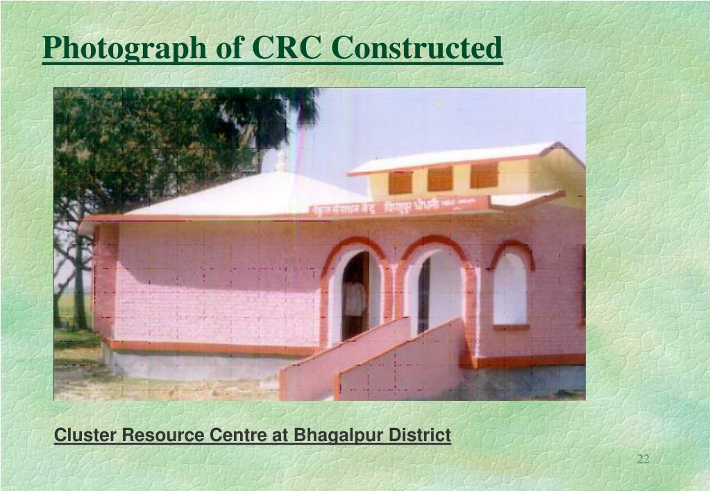 Photograph of CRC Constructed