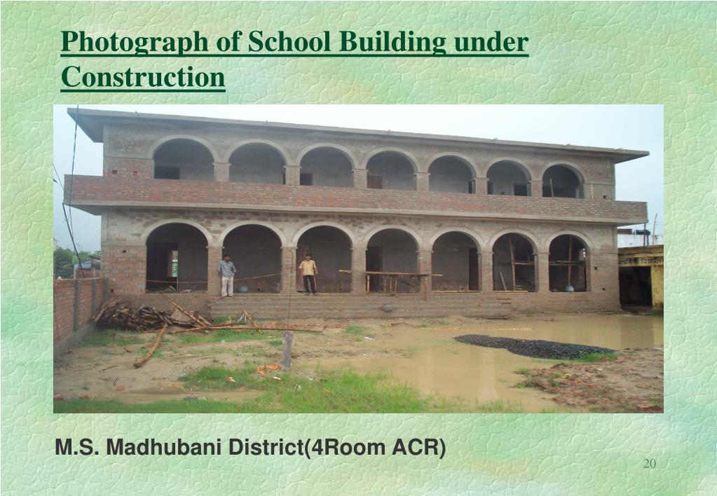 Photograph of School Building under Construction