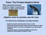 trees the primate adaptive niche
