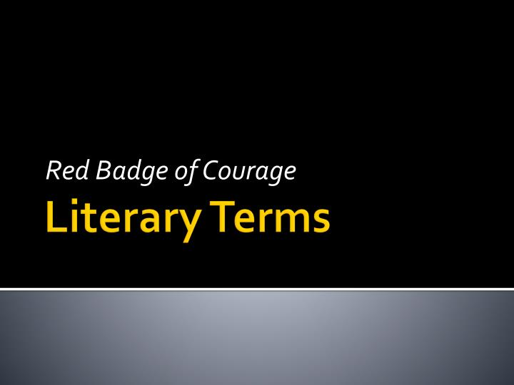 red badge of courage essay introduction It takes critical thinking to write a coherent essay on any topic this lesson offers essay questions and writing prompts based on 'the red badge.