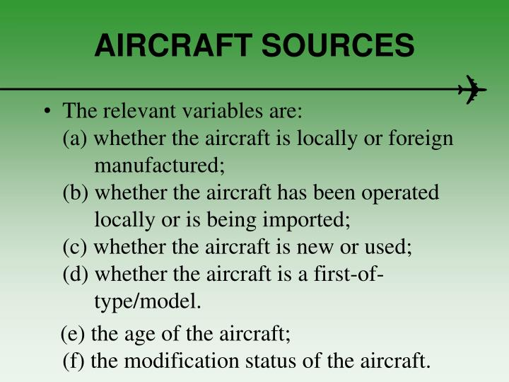 AIRCRAFT SOURCES