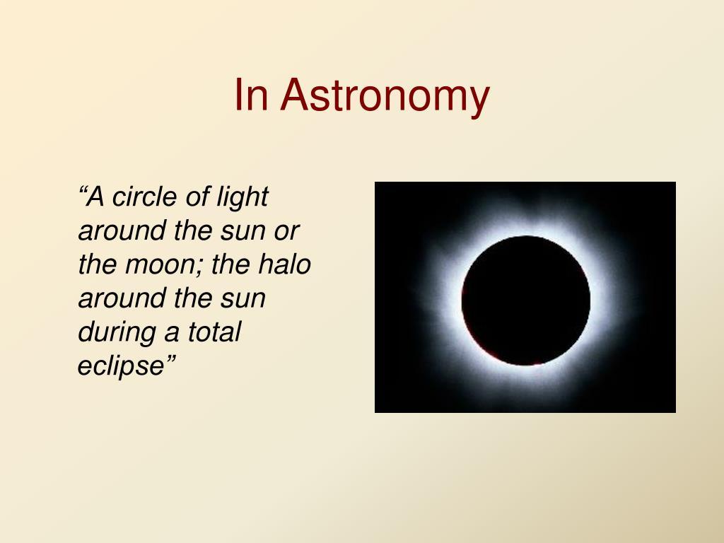In Astronomy