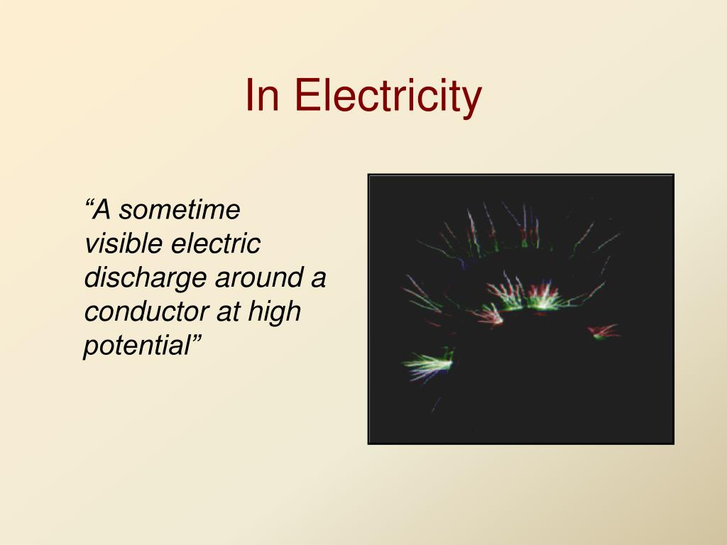 In Electricity