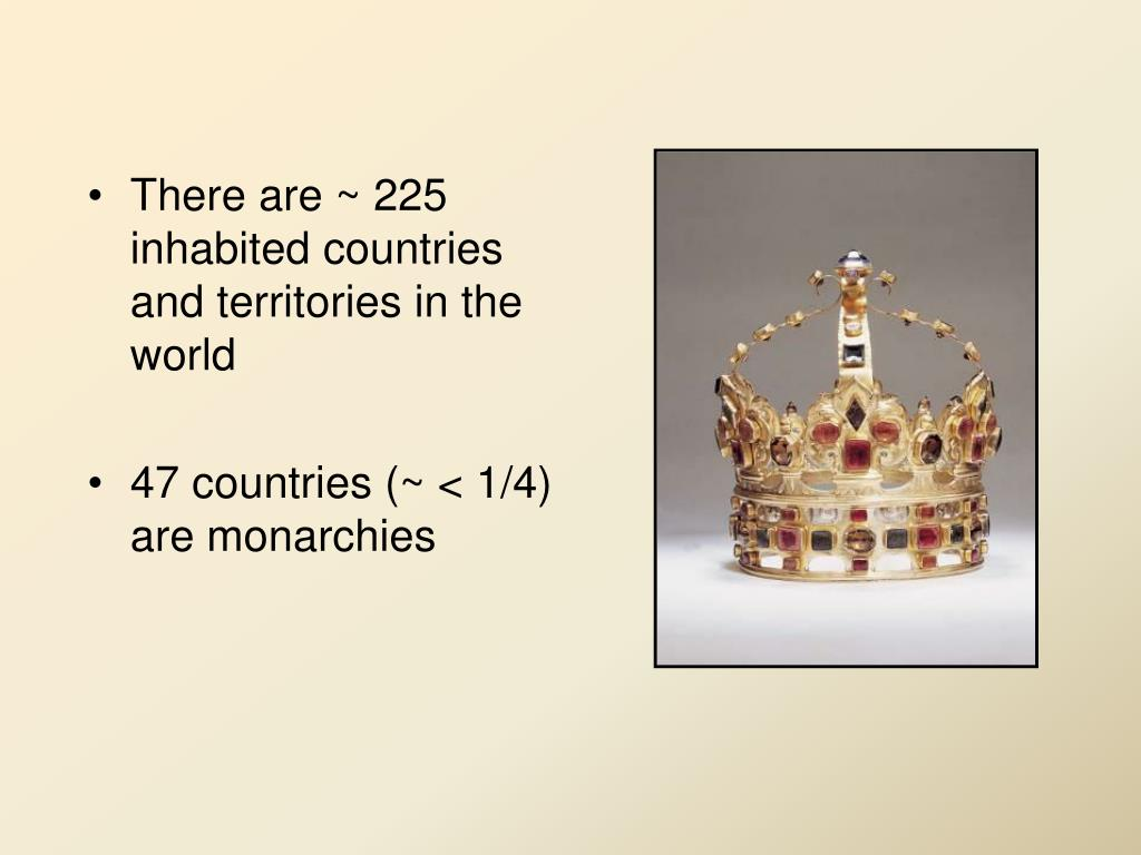 There are ~ 225 inhabited countries and territories in the world