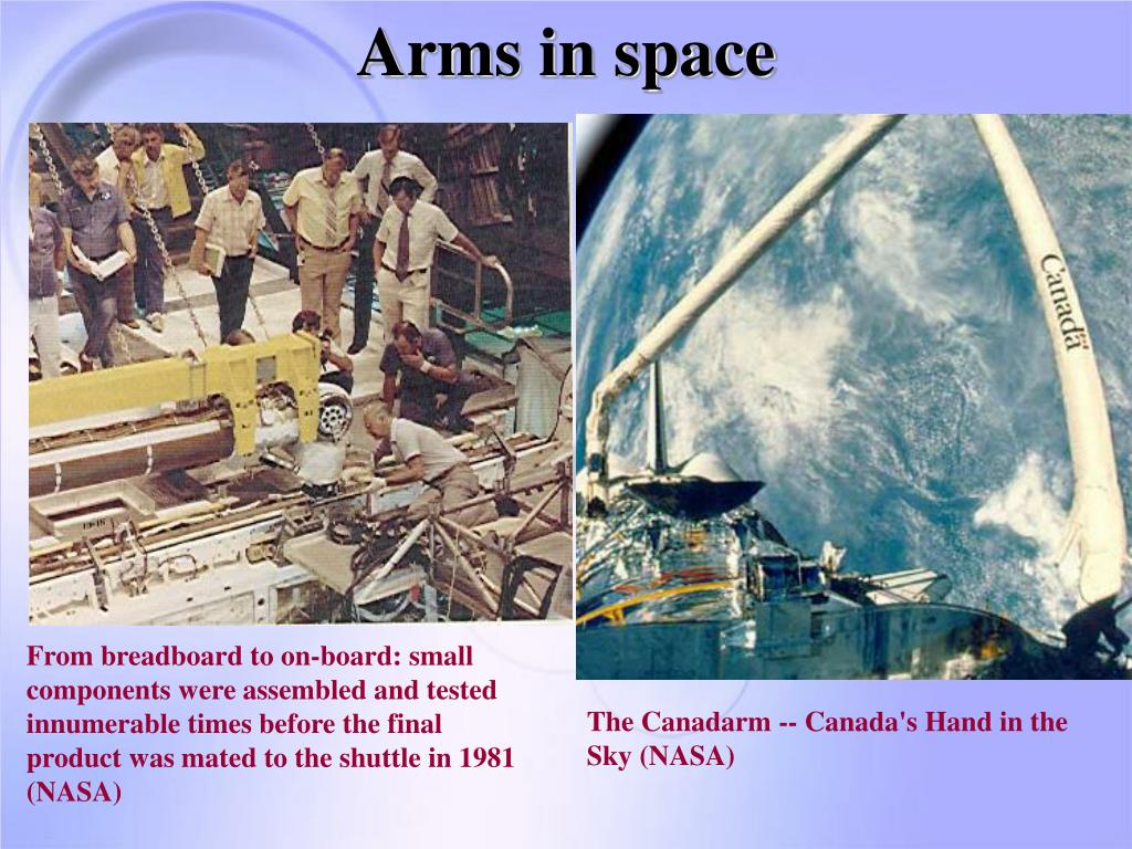 Arms in space