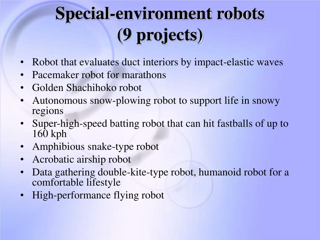 Special-environment robots