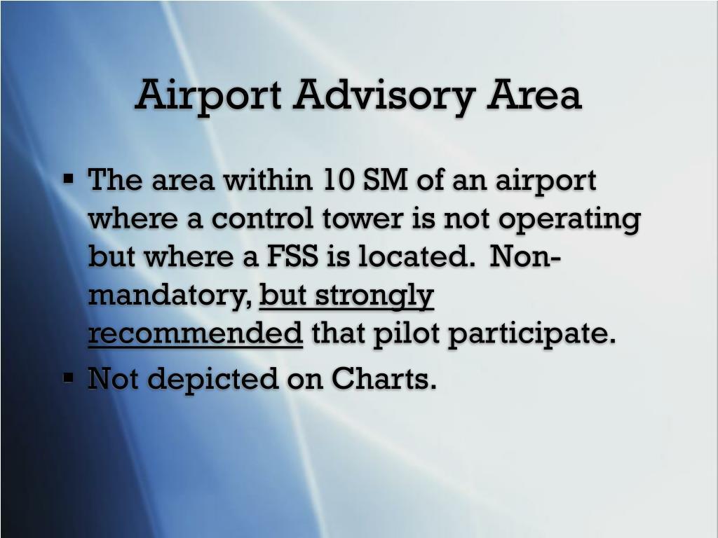 Airport Advisory Area
