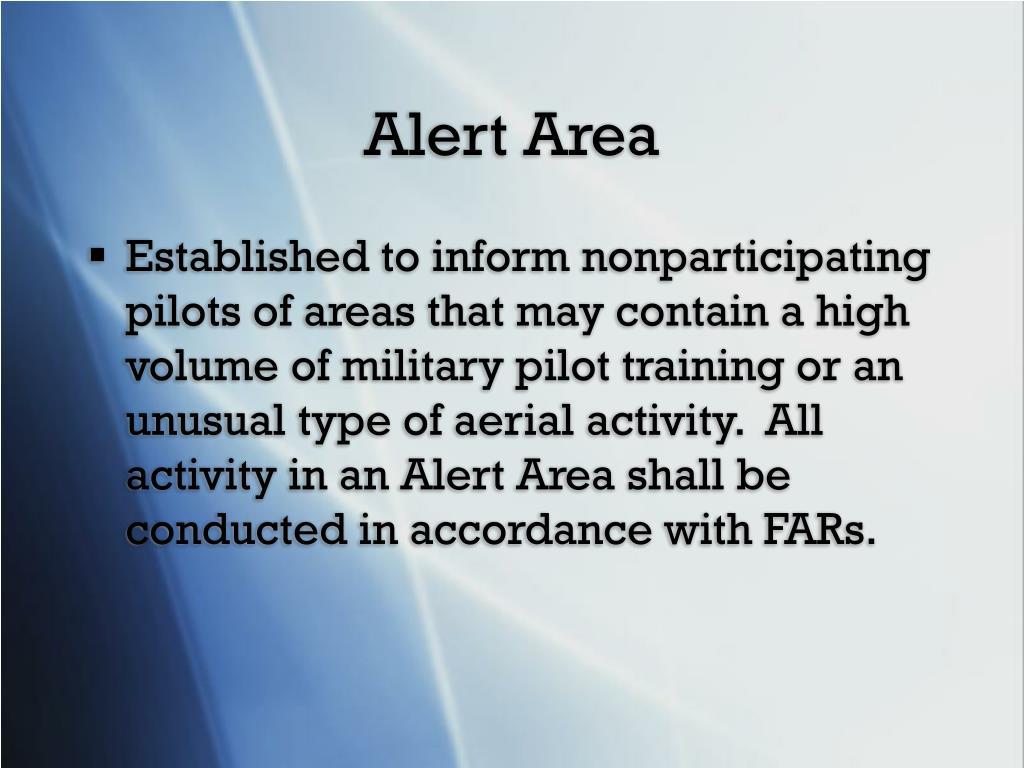 Alert Area