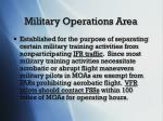 military operations area