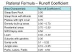 rational formula runoff coefficient