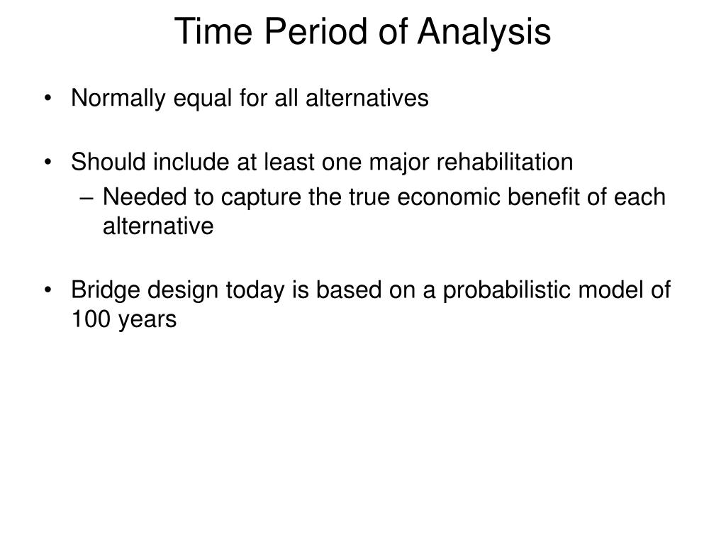 Time Period of Analysis