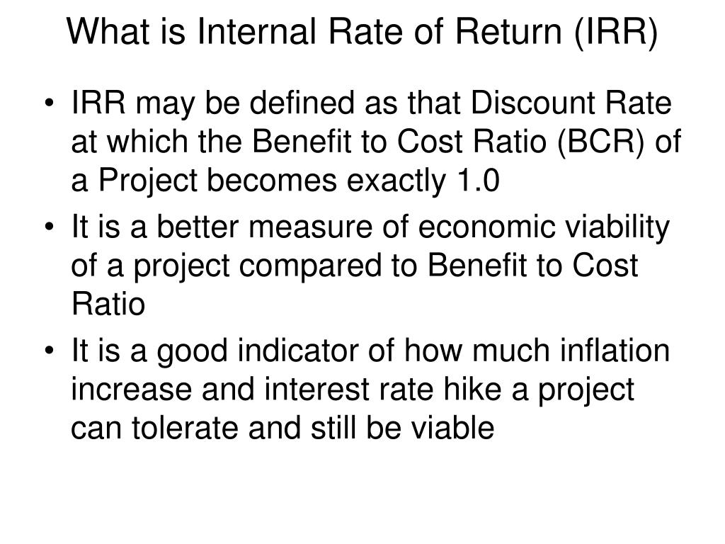 What is Internal Rate of Return (IRR)