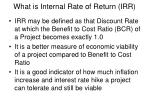 what is internal rate of return irr