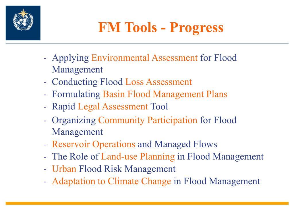 FM Tools - Progress