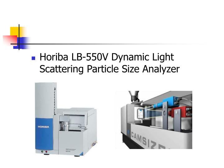 Horiba LB-550V Dynamic Light Scattering Particle Size Analyzer