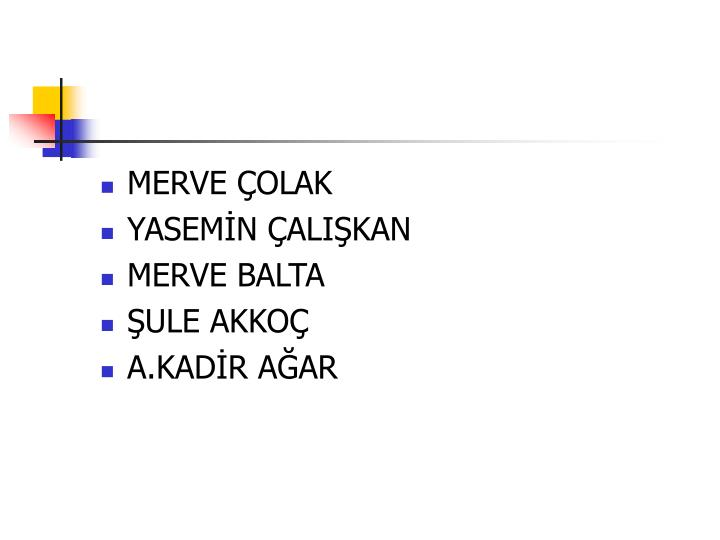MERVE ÇOLAK